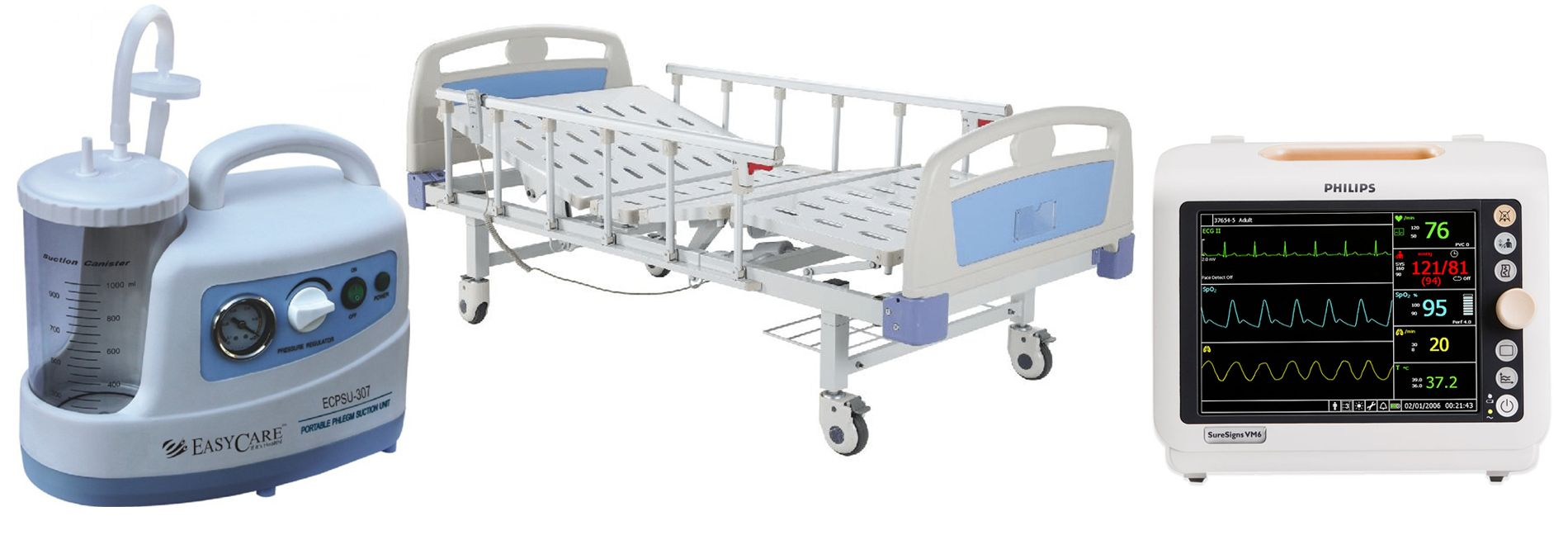 Hospital Patient Beds, Philips Patient Monitor
